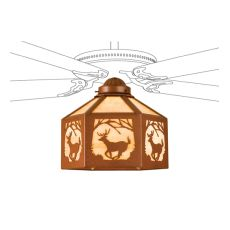 "13"" W Lone Deer Fan Light Shade"
