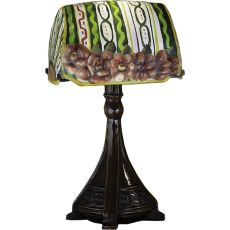 "18"" H Puffy Ravenna Floral Accent Lamp"