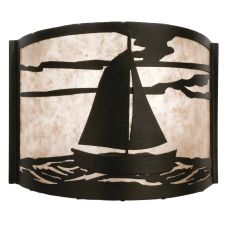 "12"" W Sailboat Wall Sconce"