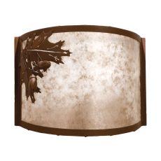 "12"" W Oak Leaf & Acorn Wall Sconce"