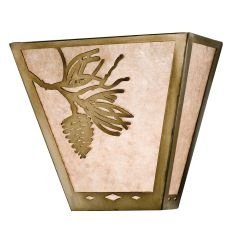 """13"""" W Balsam Pine Wall Sconce"""