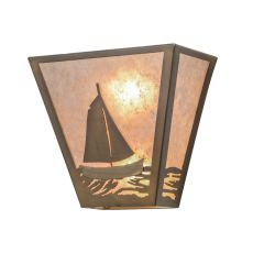 "13"" W Sailboat Wall Sconce"