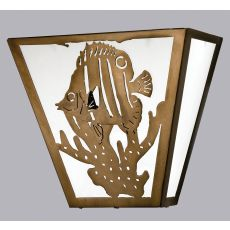 "13"" W Tropical Fish Wall Sconce"