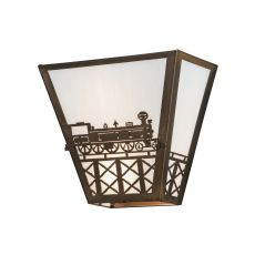 "13"" W Train Wall Sconce"