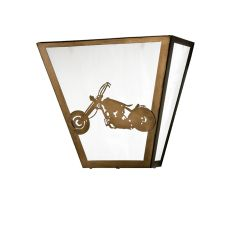 "13"" W Motorcycle Wall Sconce"