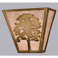 "13"" W Oak Tree Wall Sconce"