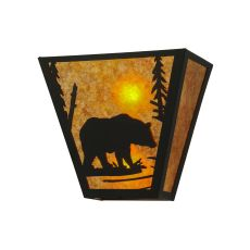 "13"" W Bear Creek Wall Sconce"