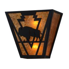"13"" W Lone Buffalo Wall Sconce"