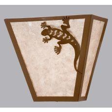 """13"""" W Gecko Wall Sconce"""