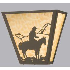 """13"""" W Cowboy Wall Sconce"""