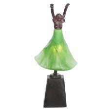 "16"" H Silhouette Erte Dancer Accent Lamp"