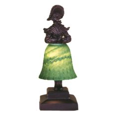 "13.5"" H Silhouette Prairie Lady Accent Lamp"