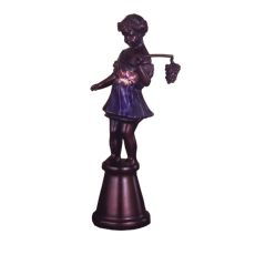 "15.5"" H Silhouette Bacchus Boy Accent Lamp"