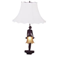 """17"""" H Silhouette 30'S Lady Accent Lamp"""