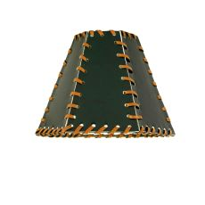 """7"""" W X 5"""" H Faux Leather Green Hexagon Shade"""