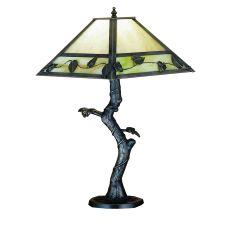 """18"""" H Mission Vine Leaf Apple Tree Table Lamp"""