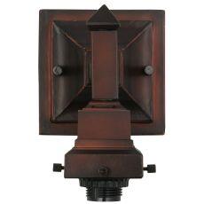 "5"" W Mission Mahogany Bronze 1 Lt Wall Sconce Hardware"