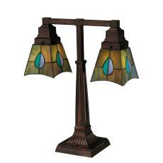 "19.5"" H Mackintosh Leaf 2 Arm Desk Lamp"