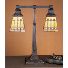 """19.5"""" H Prairie Corn 2 Arm Desk Lamp"""