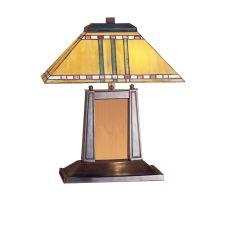 """20"""" H Prairie Corn Oblong Desk Lamp"""