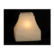 "5"" Sq Bungalow Alabaster Shade"