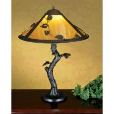 "23"" H Mission Vine Leaf Apple Tree Table Lamp"