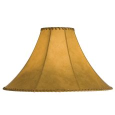 "20"" W X 13"" H Faux Leather Tan Hexagon Shade"