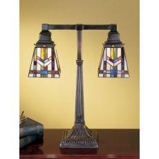 """19.5"""" H Prairie Wheat 2 Arm Desk Lamp"""