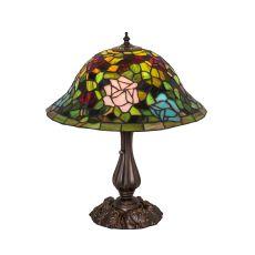 """18.5"""" H Tiffany Rosebush Table Lamp"""