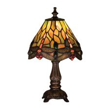 "11.5"" H Tiffany Hanginghead Dragonfly Mini Lamp"