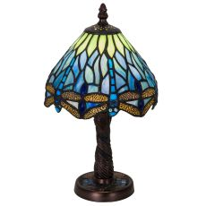 "12"" H Tiffany Hanginghead Dragonfly W/Mosaic Base Mini Lamp"