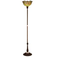 """69"""" H Tiffany Hanginghead Dragonfly Torchiere"""