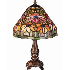"13"" H Poinsettia Mini Lamp"