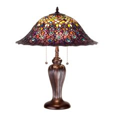 """25"""" H Tiffany Peacock Feather Table Lamp"""
