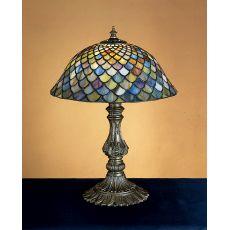 "17"" H Tiffany Fishscale Accent Lamp"