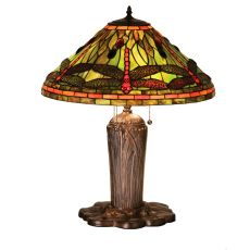 "25"" H Tiffany Dragonfly Table Lamp"