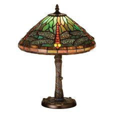 "16"" H Tiffany Dragonfly W/ Twisted Fly Mosaic Base Accent Lamp"