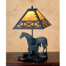 "20"" H Mare & Foal Table Lamp"