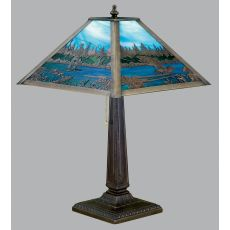 "21.5"" H Fly Fishing Creek Table Lamp"