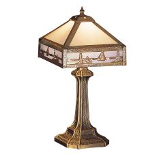 "19"" H Sailboat Mission Accent Lamp"