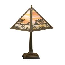 "10"" H Camel Mission Accent Lamp"