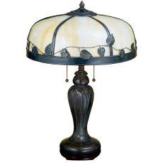 "25"" H Arts & Crafts Poplar Table Lamp"