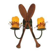 """15"""" W Paddle 2 Lt Wall Sconce"""