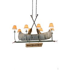 "48"" L Personalized Canoe 8 Lt Chandelier"