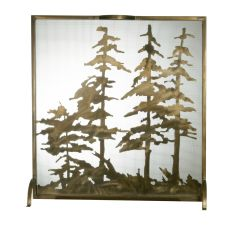 "32"" W X 33"" H Tall Pines Fireplace Screen"