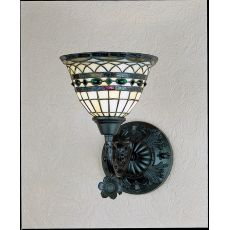 "8"" W Tiffany Roman 1 Lt Wall Sconce"