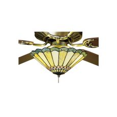 """12"""" W Carousel Jadestone Fan Light Fixture"""