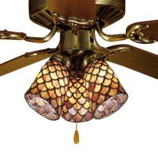 "4"" W Tiffany Fishscale Fan Light Shade"