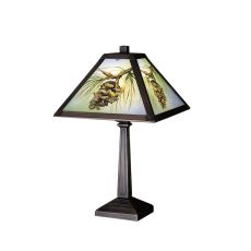"16"" H Northwoods Pinecone Hand Painted Accent Lamp"