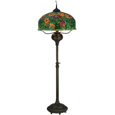 "81"" H Tiffany Poppy Floor Lamp"